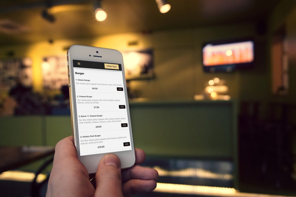order food online system from phone